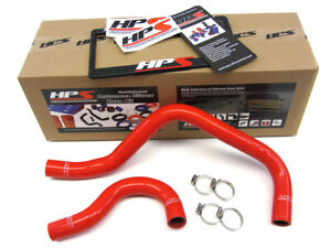 Hps Red Reinforced Silicone Radiator Hose Kit Coolant For Acura 90 93 Integra