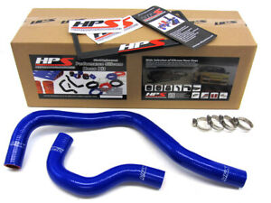 Hps Blue Reinforced Silicone Radiator Hose Kit Coolant For Acura 90 93 Integra