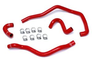 Hps Reinforced Red Silicone Heater Hose Kit Coolant For Bmw 01 06 E46 M3 Left