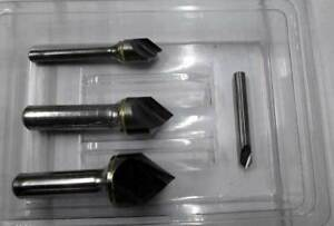 4 Pcs Made In Usa 1 4 1 2 3 4 1 X 90 Deg 1 Flt Carbide Countersink Set