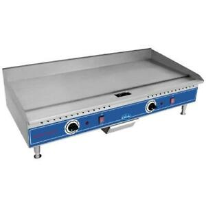 Globe Pg36e 36 Electric Countertop Griddle Flat Top Grill