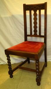 Antique Hall Chair Late 18th 19th Century Gothic Dark Wood