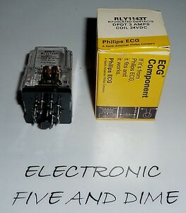 Rly1143t Ecg Dpdt 3a Coil 24vdc Relay