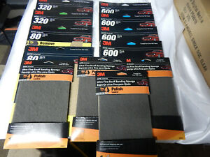 3m Auto Advanced 9 X 11 Sandpaper Mixed 12 Item Lot See Photos And Description