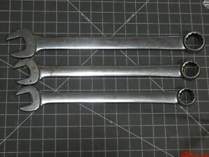 Snap On Large Sae Combination Wrench 3pc Add On Set 1 1 16 1 1 8 1 1 4 Oex40