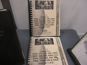 Ford Tractor Service Manual 230a 231 335 340 340a 340b 420 445 445a Fos230a231