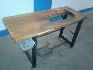 Vintage Singer Industrial Sewing Machine Table And Top Our 2