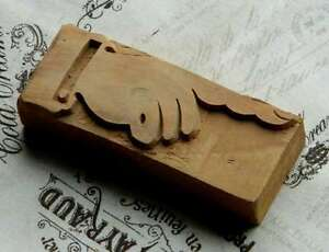 Pointing Hand 4 13 Letterpress Wooden Printing Block Wood Printer Type Finger