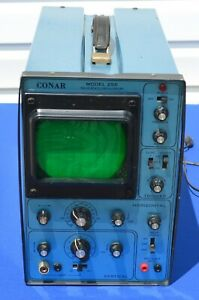 Conar Solid State Oscilloscope Model 255 Turns On Heavy 2049