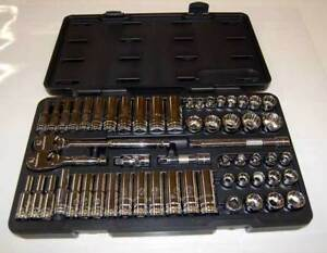 57 Pc Gearwrench 3 8 Dr 12 Pt Sae metric Standard Deep Mechanics Tool Set