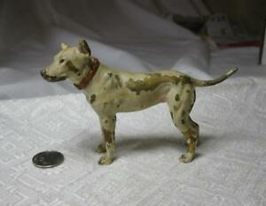 Bull Terrier Pit Bull Dog Austrian Vienna Bronze C1900 Bergmann Antique 4 Inches