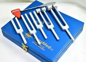 Premium 6 Tuning Fork Set Medical Chiropractic Diagnostic Instruments W taylor
