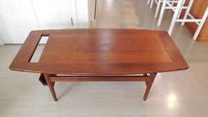 Jens Risom Walnut Coffee Table W Magazine Holder Mid 50 S Danish Modern 390