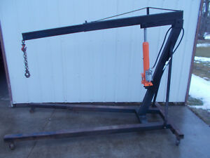 Engine Motor Hoist Cherry Picker W 8 Ton Air manual Jack
