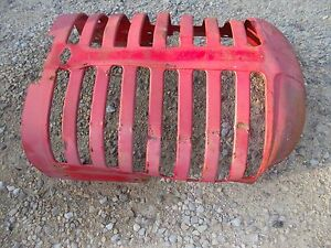 Massey Harris 44 Tractor Original Mh Front Nose Cone Grill Hood Radiator Cover