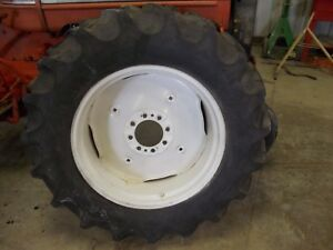 14 9 X 28 6ply Agri Power 50 Tread Tire Ih 8 Bolt Rim 504 460 Utility Tractor
