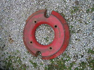 Massey Harris Rowcrop Tractor Original Rear Canada Wheel Weight