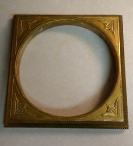 Antique Gold Empire Frame Round Opening