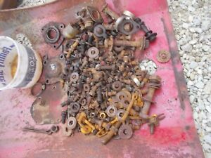 Massey Harris 101 Tractor Mh Box Of Misc Bolts Nuts Parts Pieces