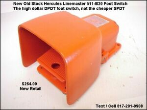 Hercules Linemaster 511 b2 Foot Switch 20amp 250volt Momentary Action Dpdt