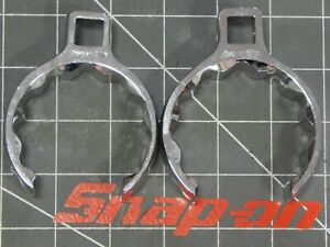 Snap On 1 2 Dr Deep Crowfoot Wrench 2pc Lot 2 1 8 2 1 4 12pt Crowsfoot Chrome