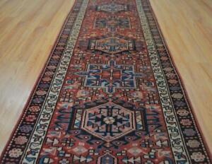 2 9 X 11 Authentic Persian Heriz Serapi Tribal Hand Knotted Wool Runner Rug 3x11