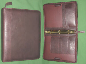 Classic 1 0 Brown Top Grain Leather Franklin Covey Quest Planner Binder 4210