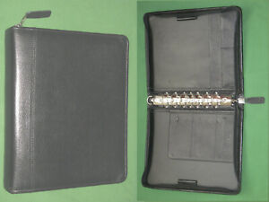 Classic 1 5 Black Top Grain Leather Franklin Covey Quest Planner Binder 5796
