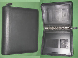 Classic 1 25 Black Top Grain Leather Franklin Covey Quest Planner Binder 5560