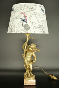 Lamp Angel Decor After Auguste Moreau Early 1900 Bronze French Antique