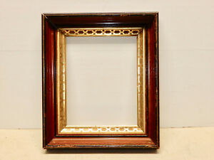 Antique Victorian Walnut Picture Frame Fitzwilliam New Hampshire Label