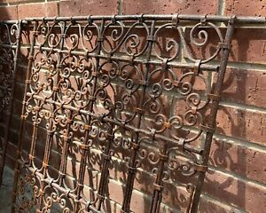 Antique Vintage Cast Wrought Iron Fence Hand Made