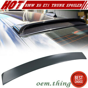Unpaint Abs Add On Top Roof Spoiler For Bmw X6 E71 Hatchback 08 14