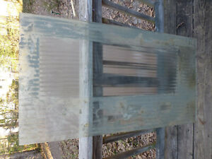 Vintage Art Deco Office Door Ribbed Architectural Glass Pane Panel Model Tobacco