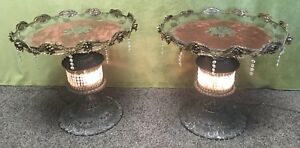 24 Pair Antique Nouveau Vintage French Ormolu Brass Nightstands End Table Lamps