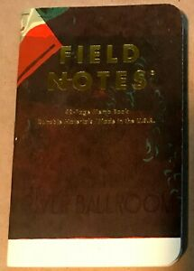 Field Notes X Landland Dead Print Limited Edition Single Book New