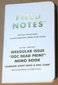 Field Notes X Ddc Dead Print Limited Edition Single Book New Unused