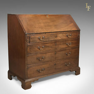 Georgian Antique Bureau 18th Century Mahogany Desk English C 1770