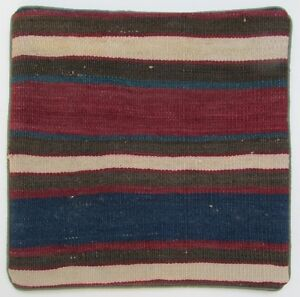 Graphically Striped Sofa Pillow Handmade From A Semi Antique Bahtiyari Kilim Rug