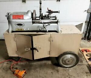Ridgid 535 Pipe Threader Threading Machine With Tooling Cart
