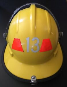 Bullard Fh 2100 Firedome Series Firefighting Helmet Yellow With Liner
