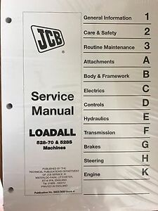 Jcb Loadall 528 70 528s Loader Service Repair Workshop Manual