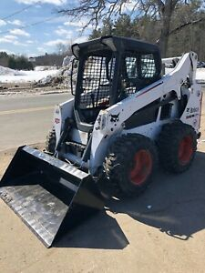 2015 Bobcat S570 Skid Steer Loader Bucket New Rubber Tires Diesel