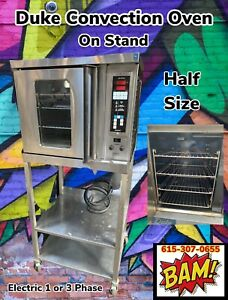 Duke 5 9 e3v 59 bs Commercial Half size Electric Convection Oven W Base Stand