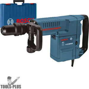 Bosch 11316evs 46 14a 1 9 16 Sds max Vs Demolition Hammer W handle case