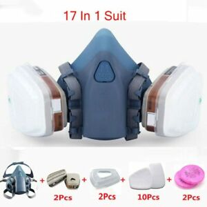3m 7502 Respirator Mask 17 In 1 Suit Industry Painting Spray Dust Gas Mask With