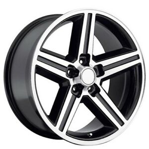 22 Iroc Wheels Black Machined 5 Lugs Rims Fs