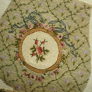 Antique Hand Embroidered Petit Point Purse