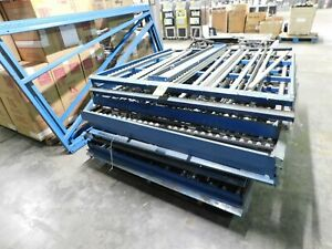 Carton Gravity Flow Shelving Pallet Racking System Roll Display 5 x10 Total