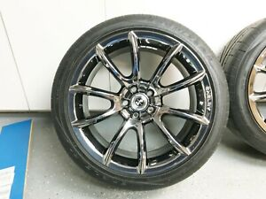 4 Goodyear Eagle F1 Supercar Tires Mounted On Shelby Chrome Wheels 15 19 Mustang